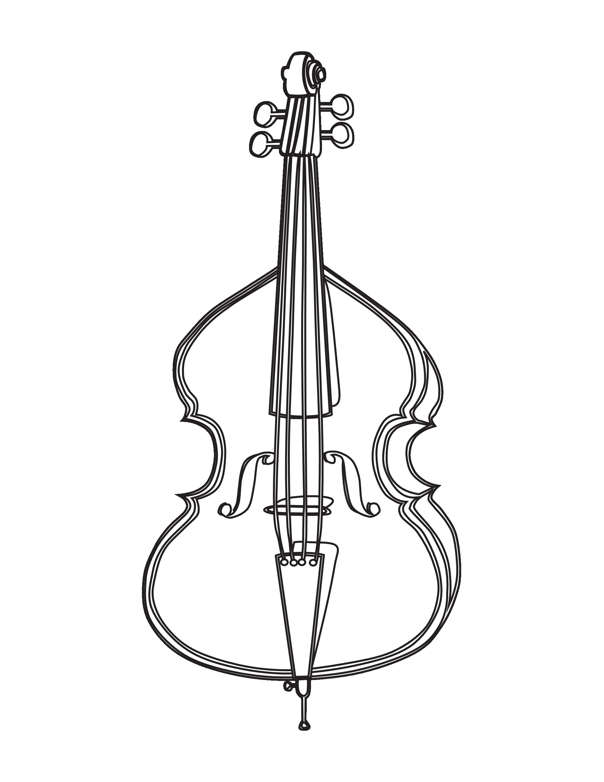 1979x2561 Awesome Cello Coloring Page Colorings Me