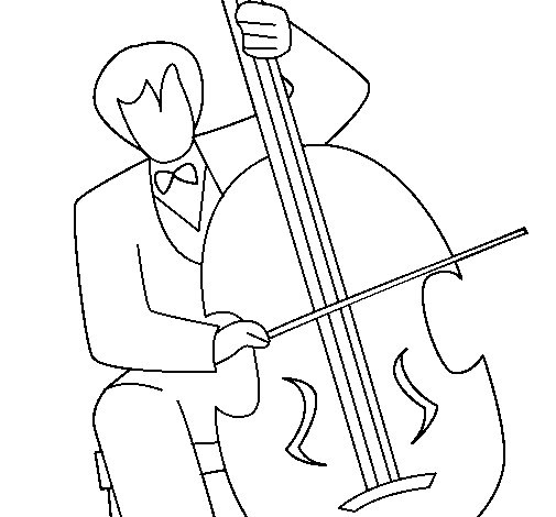 505x470 Cello Coloring Page Brilliant Cello Coloring Page Coloringcrew