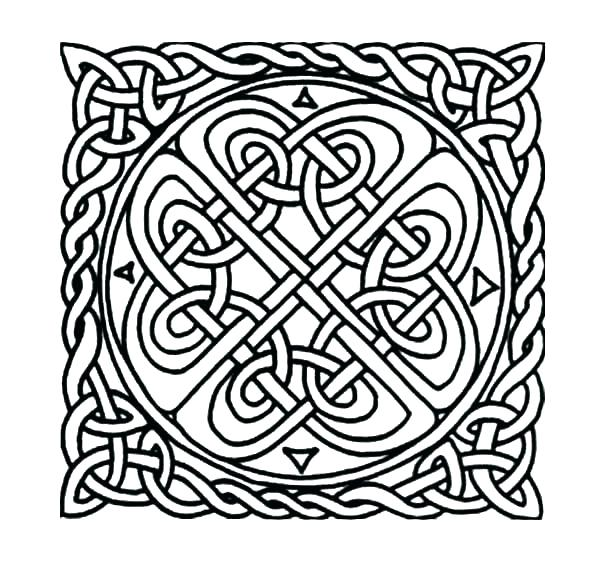 Celtic Alphabet Coloring Pages At Getdrawings Com Free For