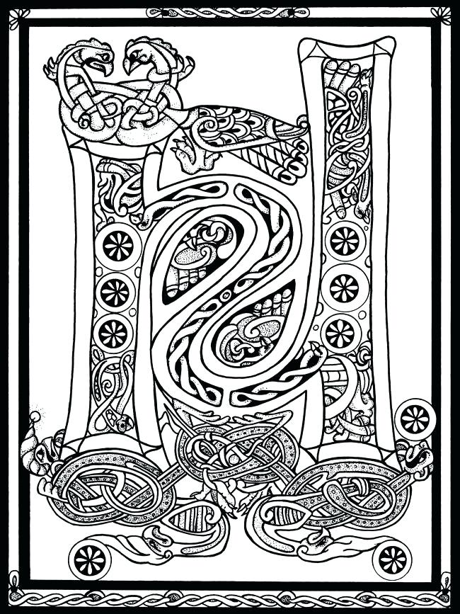 650x867 Celtic Coloring Pages Top Coloring Pages For Adults Celtic
