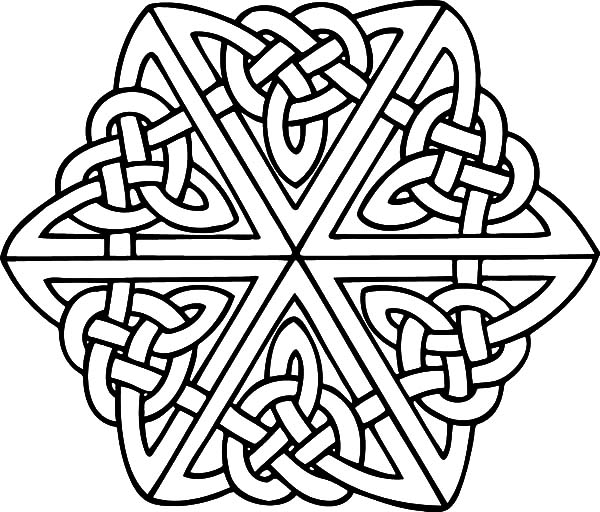 600x512 Celtic Cross Coloring Pages Best Place To Color