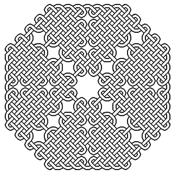 600x592 Celtic Cross Sophisticated Knot Coloring Pages Best Place To Color