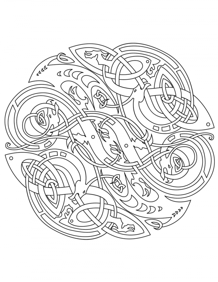 700x906 Celtic Free Coloring Pages