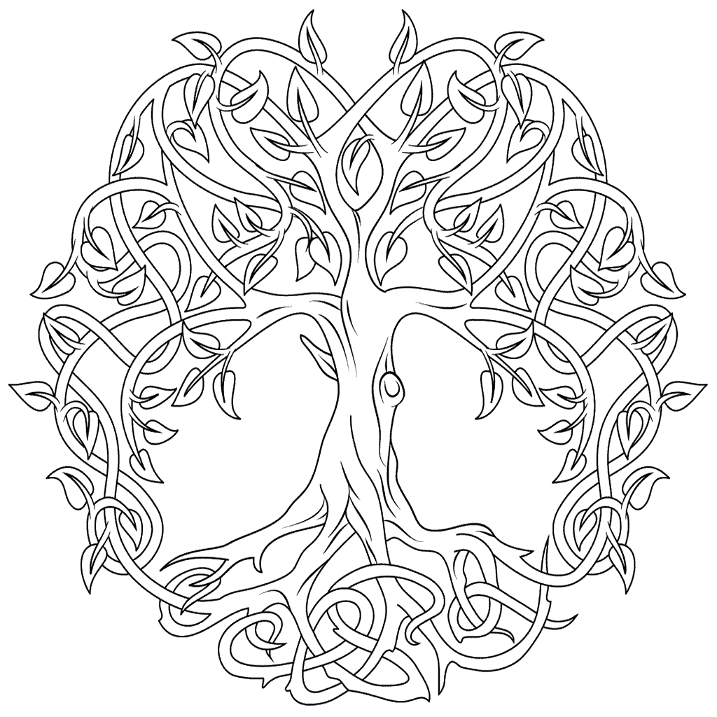 1024x1024 Celtic Mandala Coloring Pages