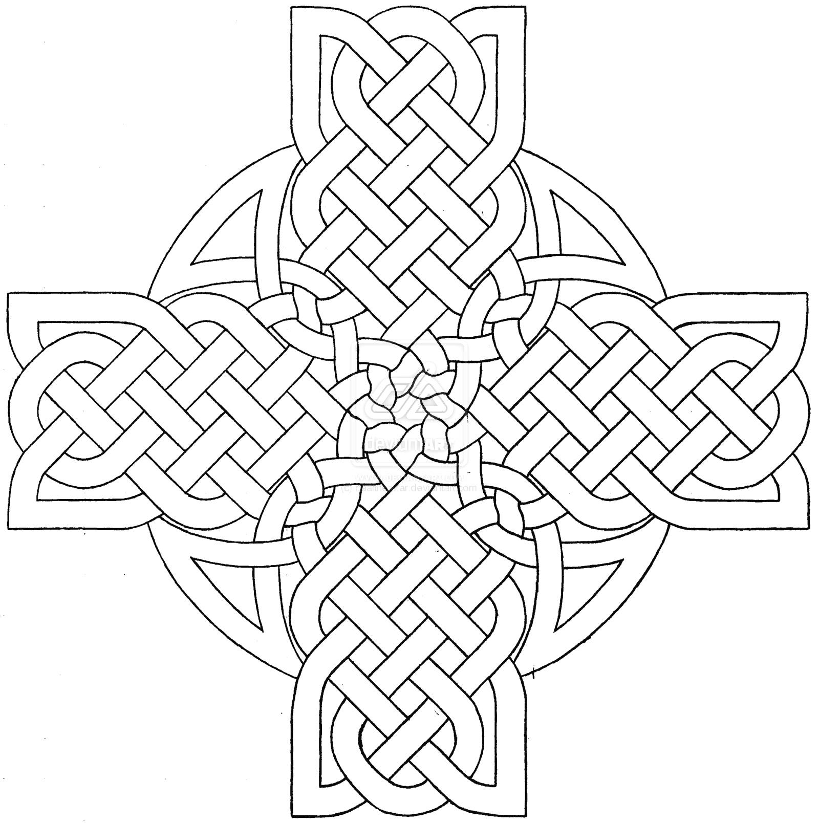 1600x1610 Easily Celtic Coloring Pages Mandala Cross Des