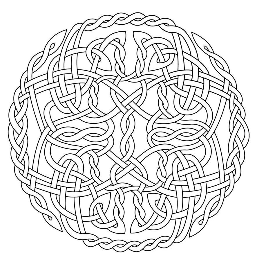 886x902 Mandala Art Free Coloring Pages Celtic Circle X