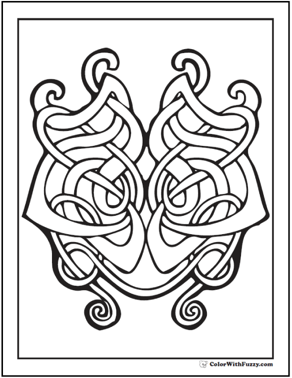 590x762 Printable Celtic Designs Coloring Pages