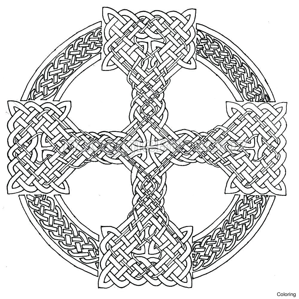 1000x1000 Astonishing Celtic Shamrock Coloring Page With Pages And Knot Free