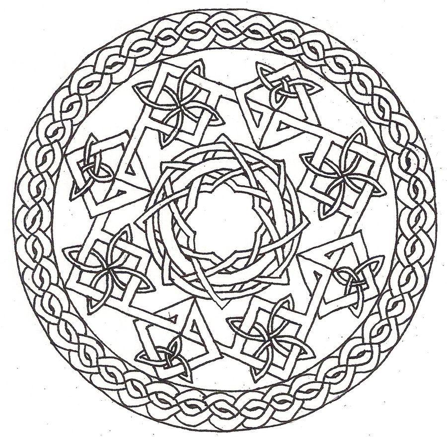900x880 Celtic Coloring Pages Printable Celtic Mandala Coloring Pages