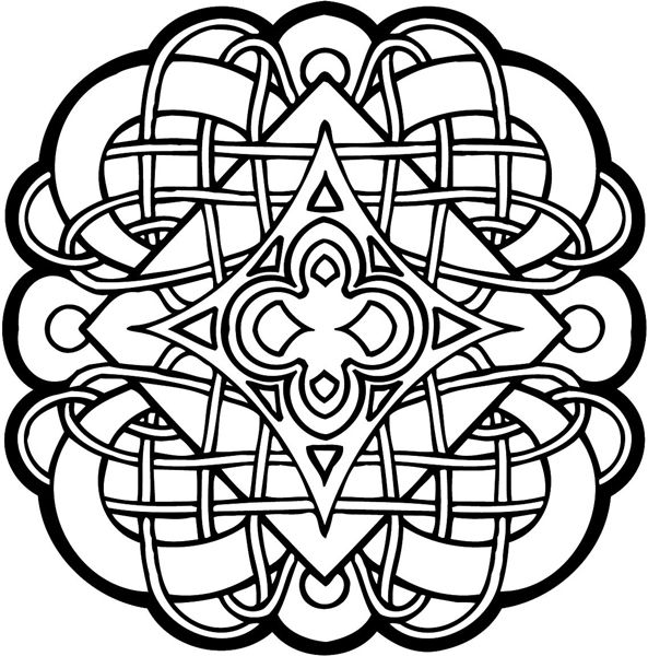 593x600 Celtic Designs Celtic Symbol Vinyl Sticker Personalize On Line