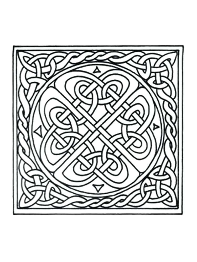 750x1000 Celtic Designs Colouring Pages