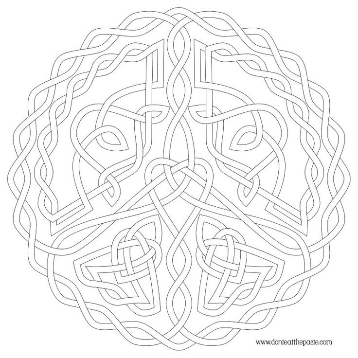 Celtic Coloring Pages For Adults