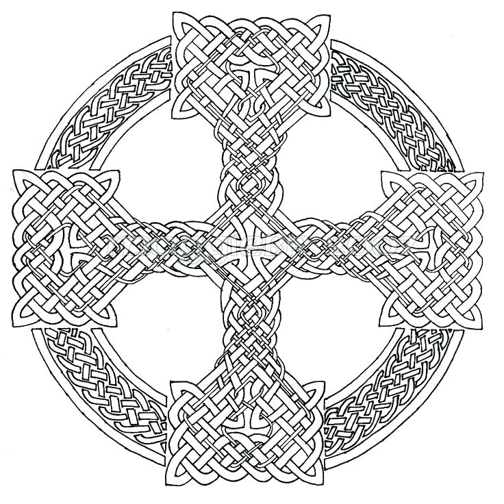 736x736 Celtic Coloring Pages For Adults Cross Mandala Pictures Coloring