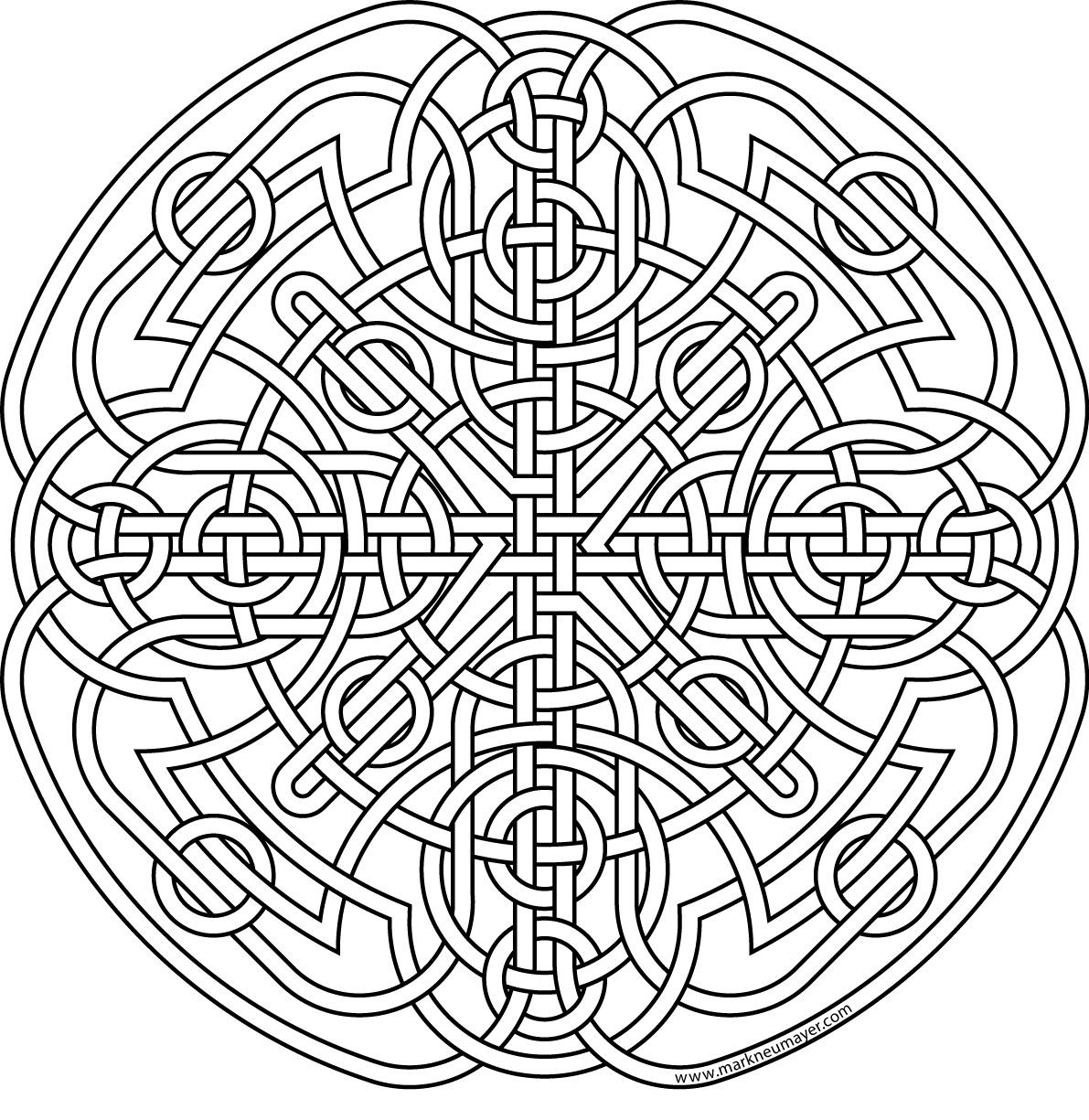 1191x1225 Celtic Knot Coloring Pages Adult The Morrigan Free Adorable