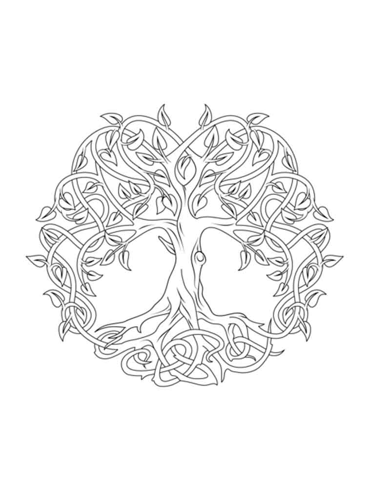 750x1000 Celtic Knot Coloring Pages For Adults Free Printable Celtic Knot