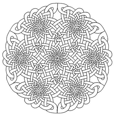 474x482 Celtic Mandala Coloring Pages For Adults
