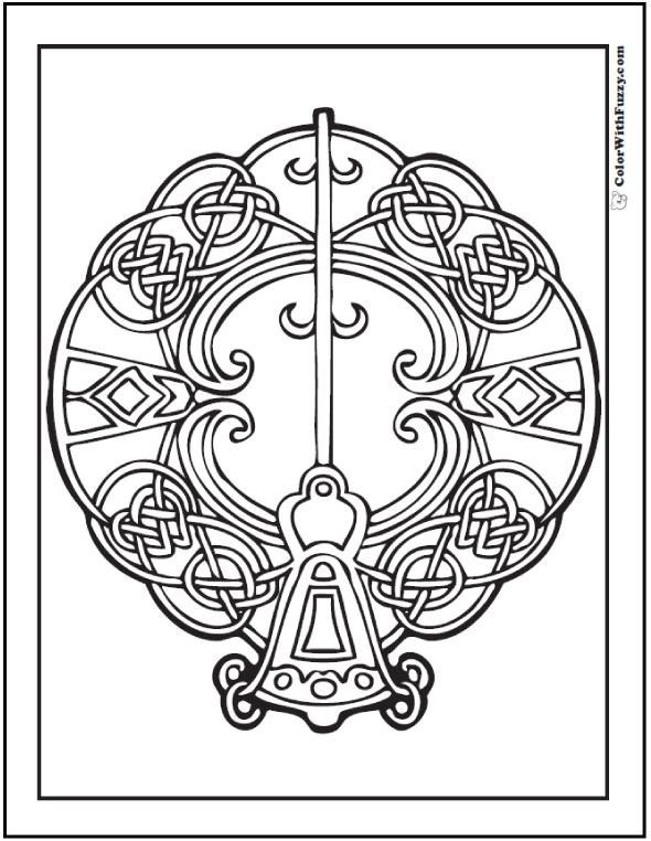 590x762 Coloring Celtic Knot Coloring Pages For Adults