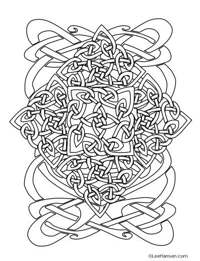 399x520 Best Celtic Coloring Pages For Adults Images