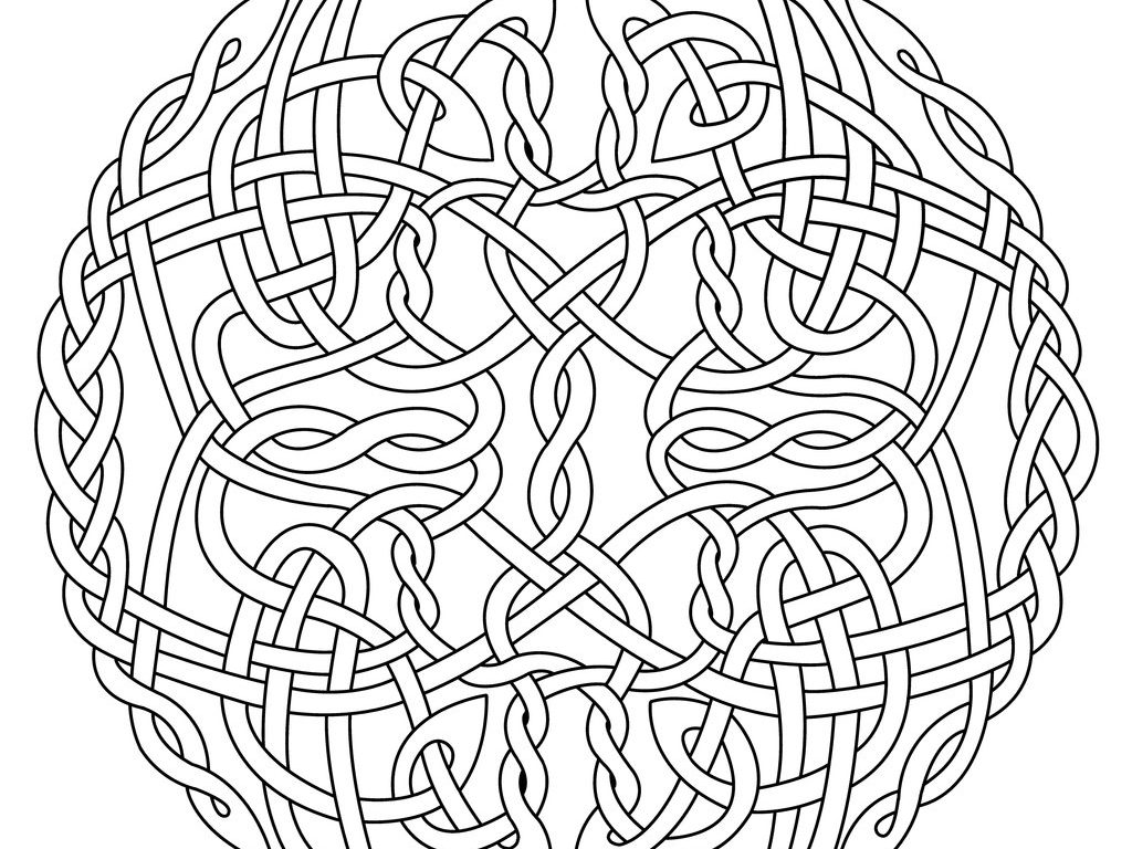 1024x768 Exciting Celtic Coloring Pages For Adults Exce