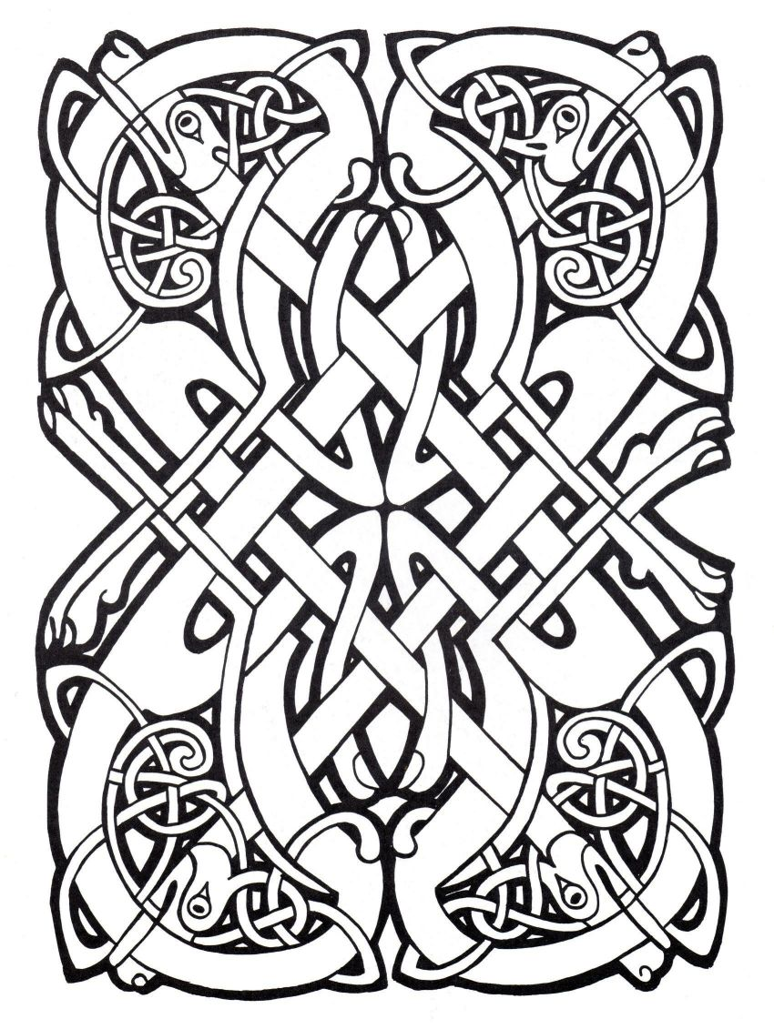 850x1131 Amazing Celtic Art Coloring Pages For Adults Justcolor Image
