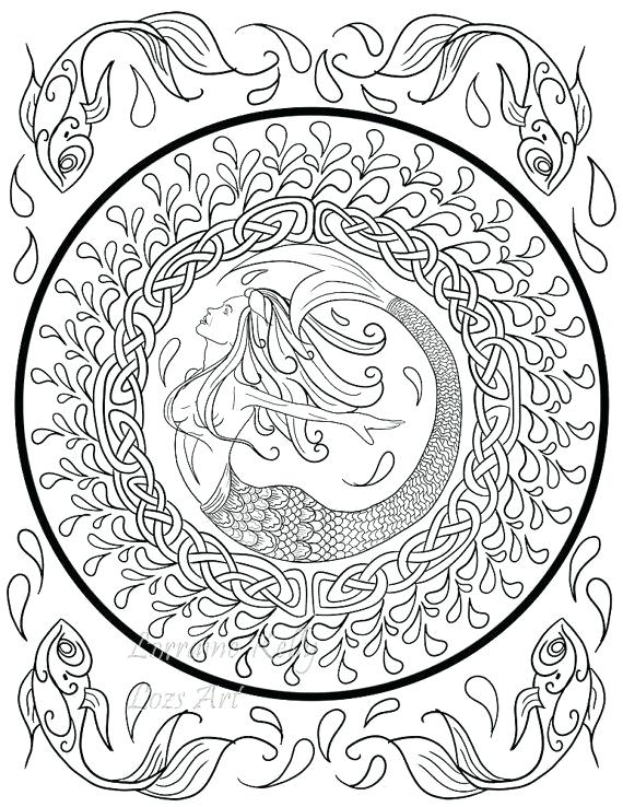 570x738 Celtic Coloring Book X Knots Adult Coloring Pages Instant
