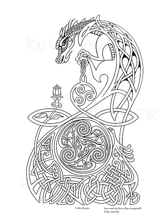 570x737 Celtic Coloring Page Coloring Pages For Adults Packed With Fantasy