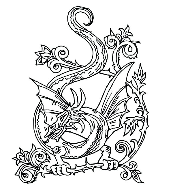 600x658 Celtic Coloring Pages Printable