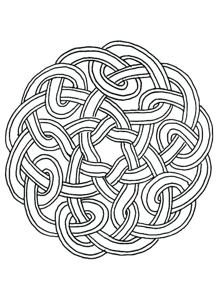 750x1000 Celtic Coloring Pages Printable Adult Knot Coloring Pages