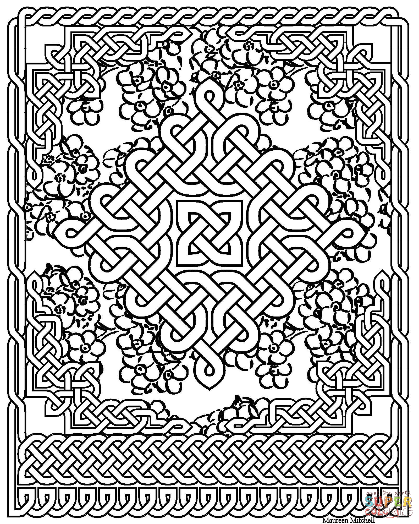 1600x2000 Celtic Knot Coloring Pages Celtic Art Coloring Pages Free Coloring