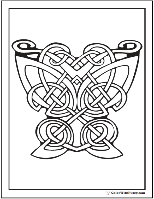 590x762 Celtic Coloring Pages Irish, Scottish, Gaelic Celtic Art