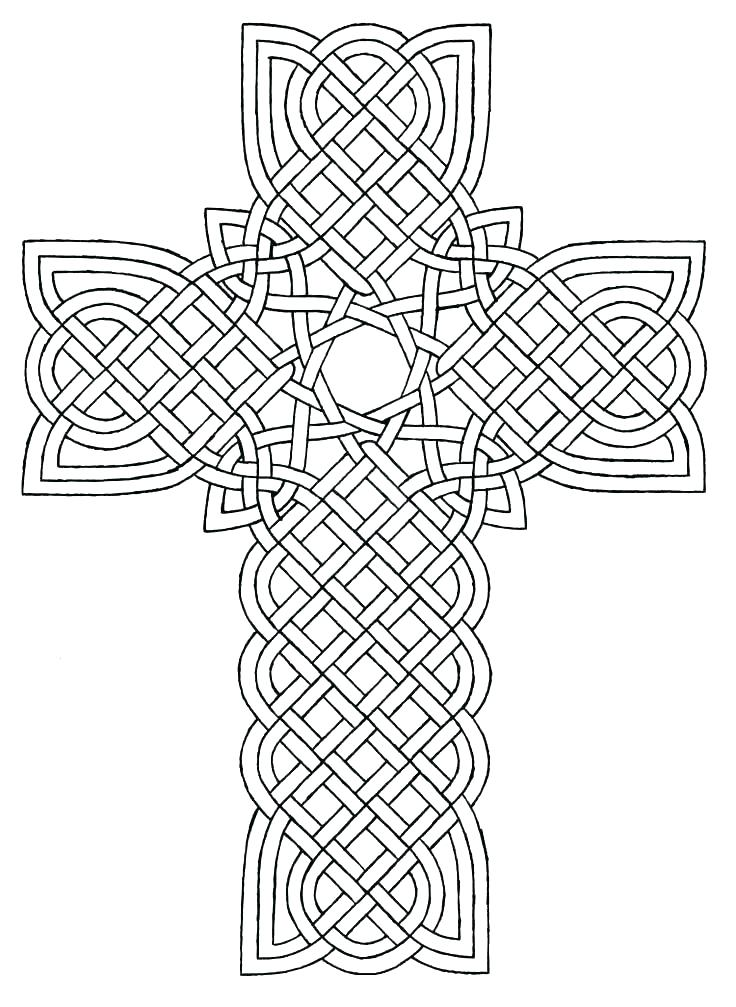 736x1007 Celtic Coloring Page Free Printable Cross Coloring Pages Cross