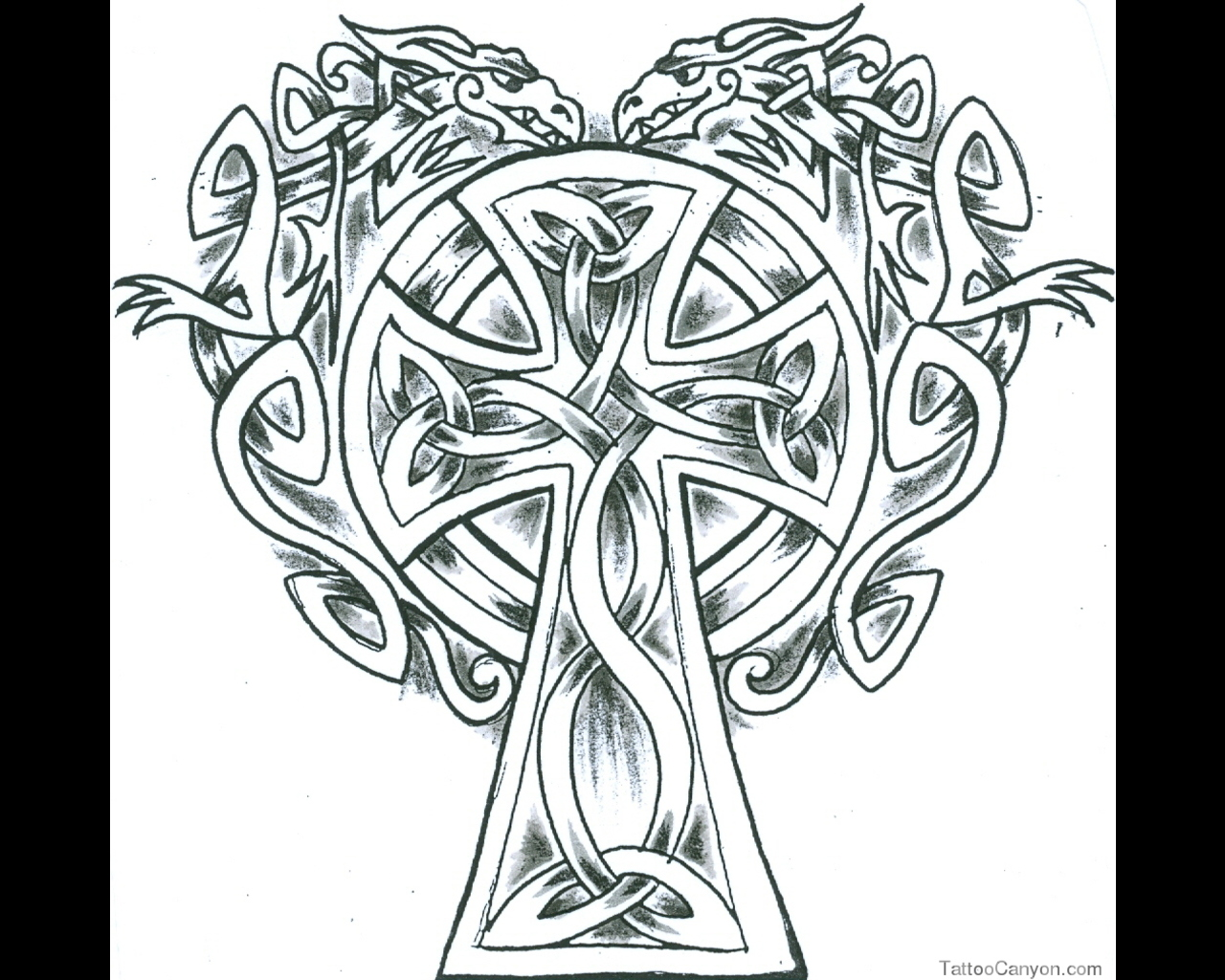 Celtic Cross Coloring Pages