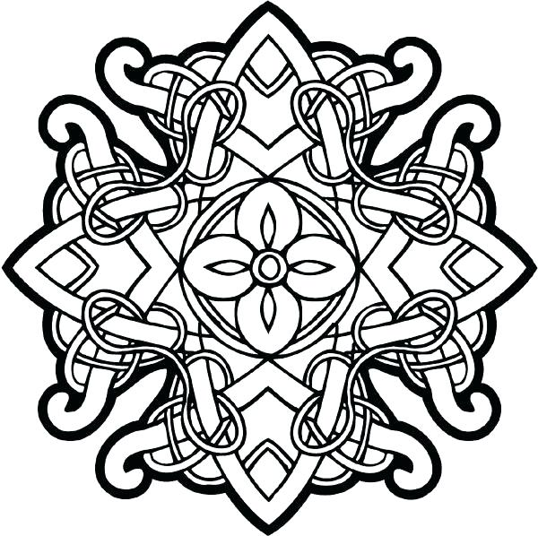 600x598 Celtic Knot Coloring Pages Designs Coloring Pages Free Coloring