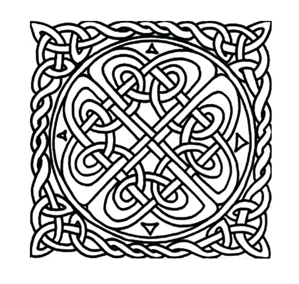 600x571 Celtic Knot Coloring Pages Knot Patterns Cross Coloring Pages Free