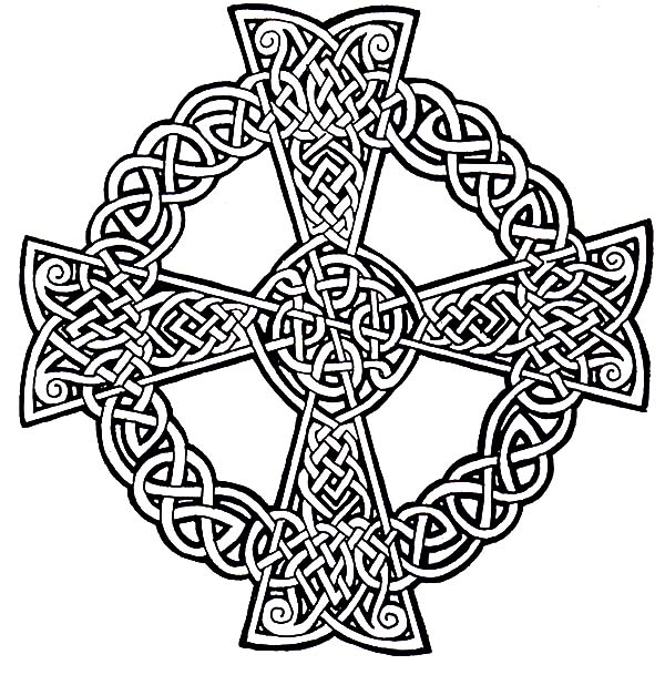 600x609 Cemetery Celtic Cross Coloring Pages Best Place To Color