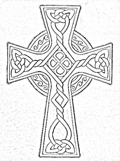 455x611 Coloring Cross Page Celtic Designs