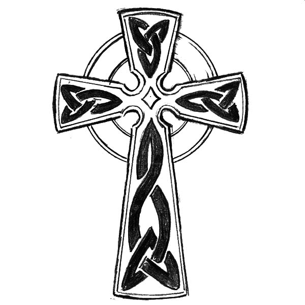600x600 Cornish Celtic Cross Coloring Pages Best Place To Color