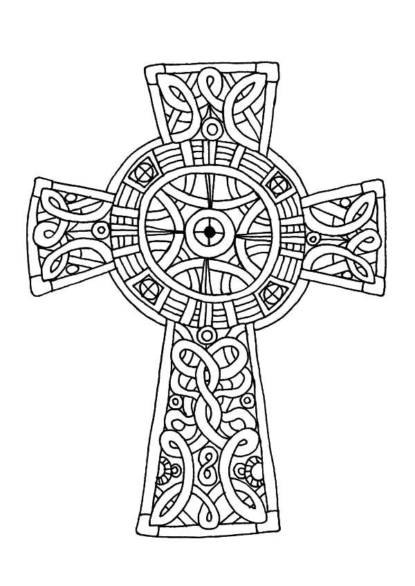 600x847 Celtic Cross, Amazing Celtic Cross Coloring Pages Celtic