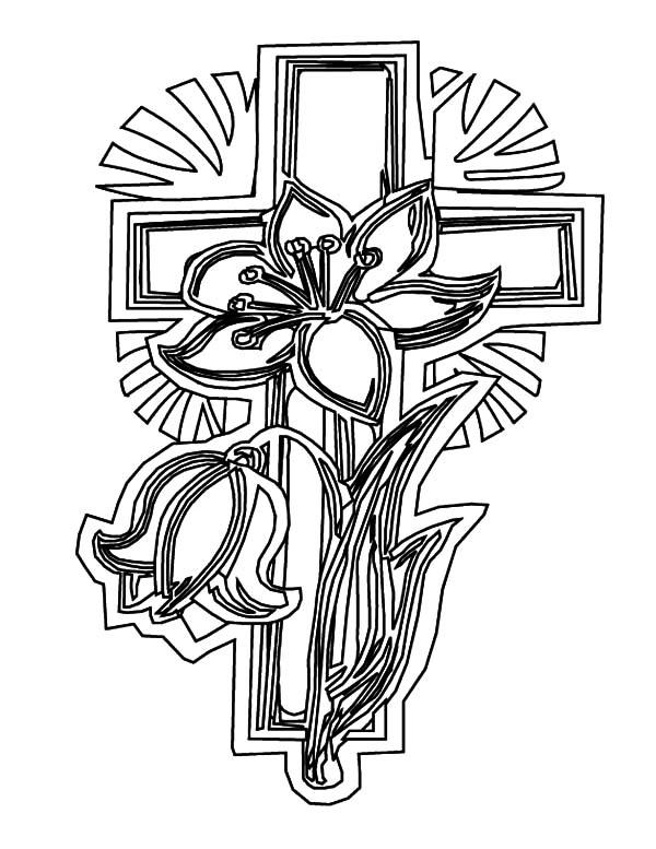 600x777 Floral Celtic Cross Coloring Pages Floral Celtic Cross Coloring
