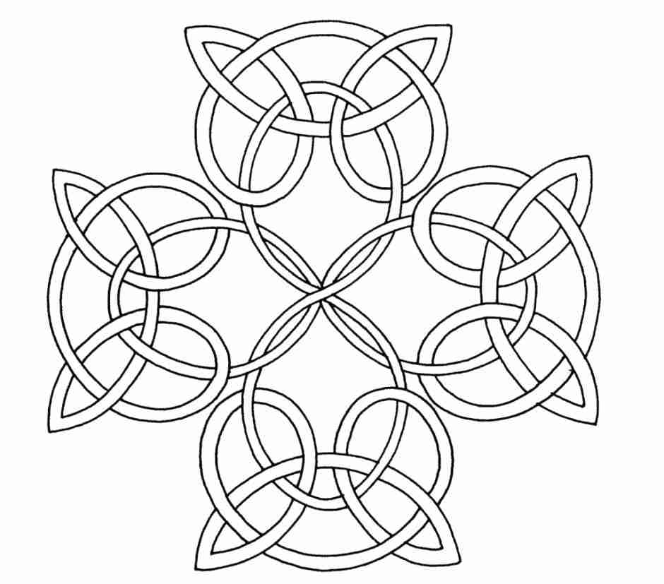 940x827 This Is Celtic Knot Coloring Pages Images Page Cross Inside