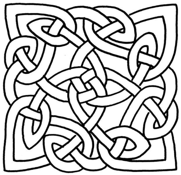 623x600 Coloring Pages Celtic Knot Image