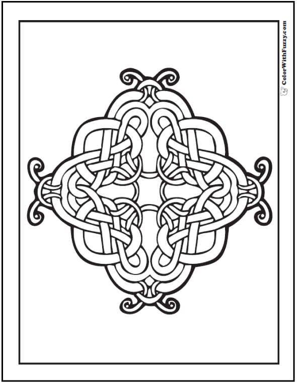 590x762 Celtic Cross Coloring Pages Intricate Design