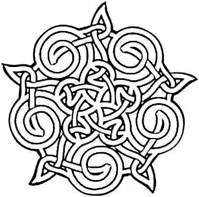 Celtic Design Coloring Pages