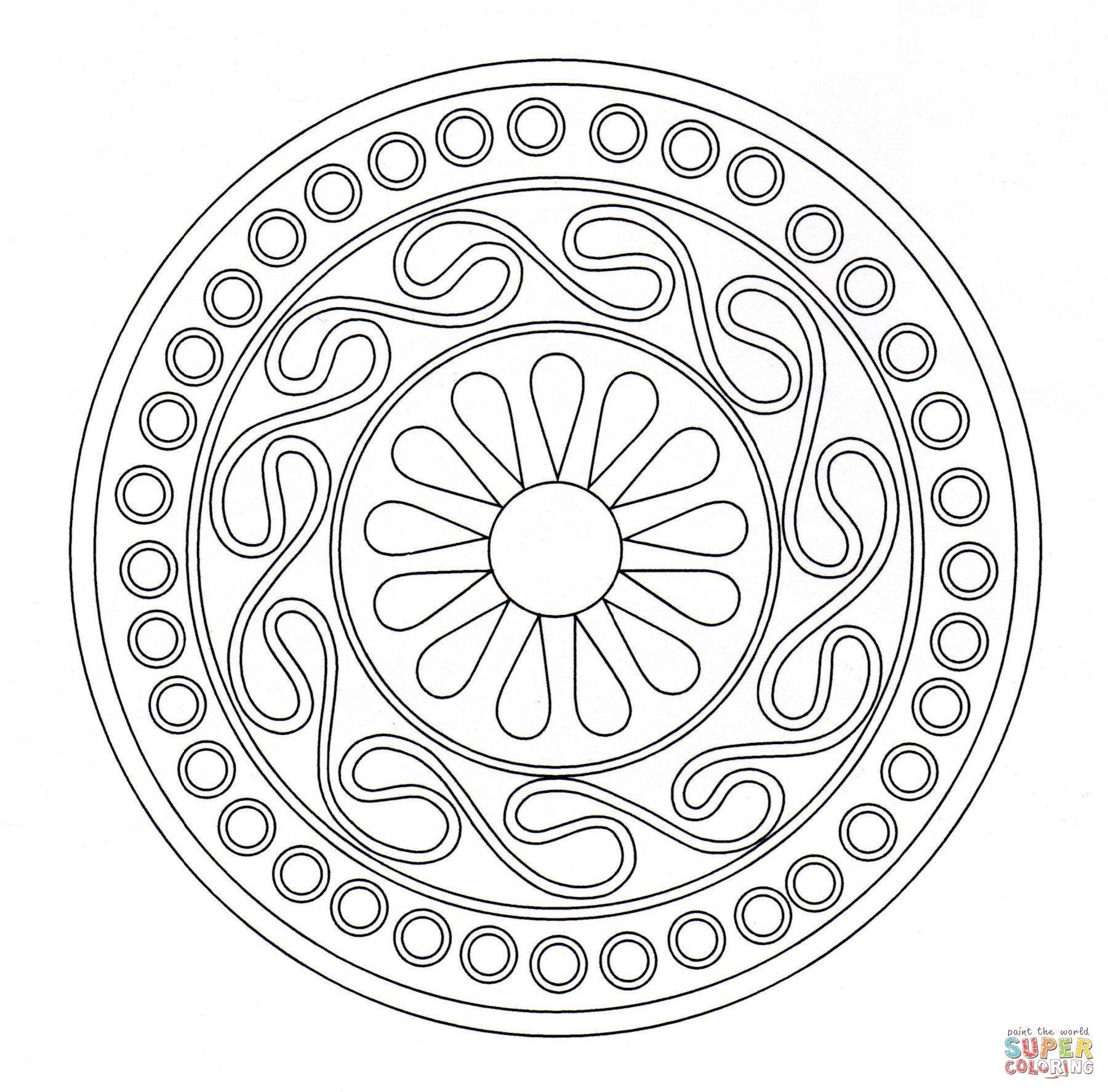 1800x1774 Celtic Ornament Super Coloring Mandala Ornament