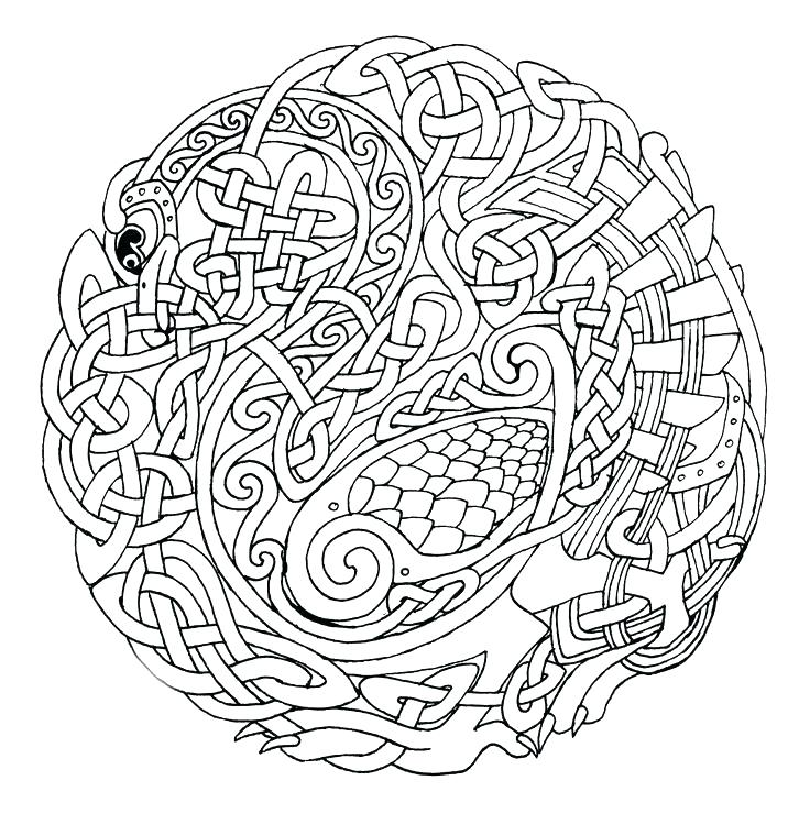 736x739 Celtic Knot Coloring Pages Knot Coloring Pages Knot Coloring Pages