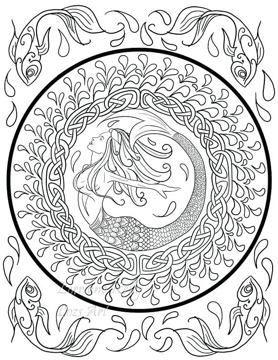 570x738 Celtic Knot Coloring Pages X Knot Adult Coloring Pages Instant