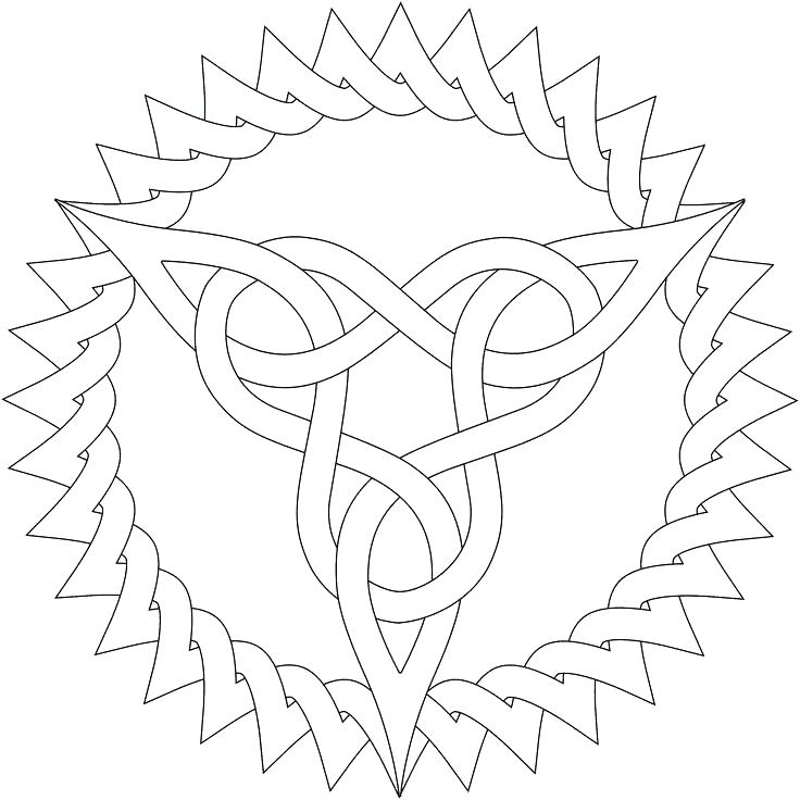 736x736 Knot Coloring Pages Knots Knot Coloring Pages Celtic Knot Coloring