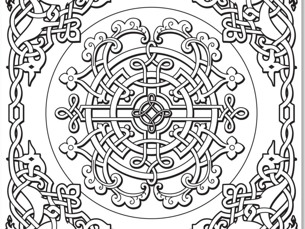 1024x768 Celtic Knot Coloring Pages