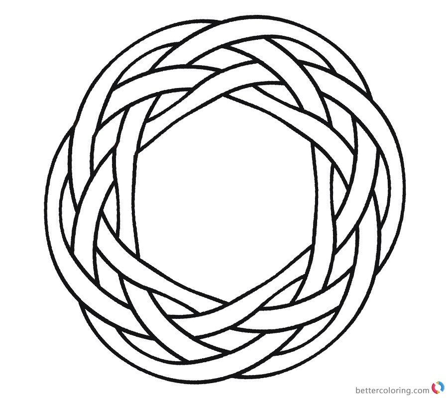 900x800 Celtic Knot Coloring Pages Simple Ornament