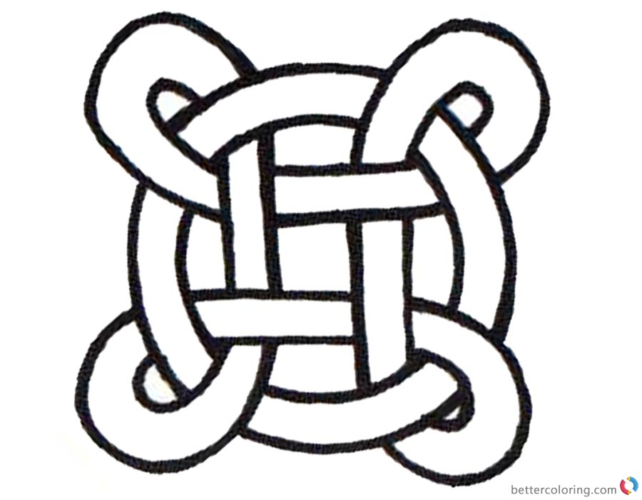 900x700 Celtic Knot Coloring Pages Simple For Kids